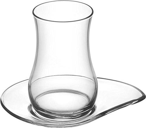 Kaiser-Handel.de 24 Teilig Tee Gläser Set Cay bardaklari aus der Türkei 12 Gläser 12 Untertassen Evas1