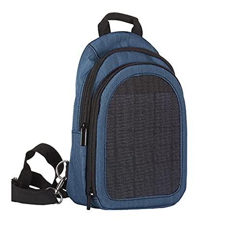 skrskr Zaino con Pannello Solare Impermeabile Comoda Borsa per Laptop di Ricarica Zaino di Grande capacità per Viaggi d'Affari Zaino Solare per Caricabatterie