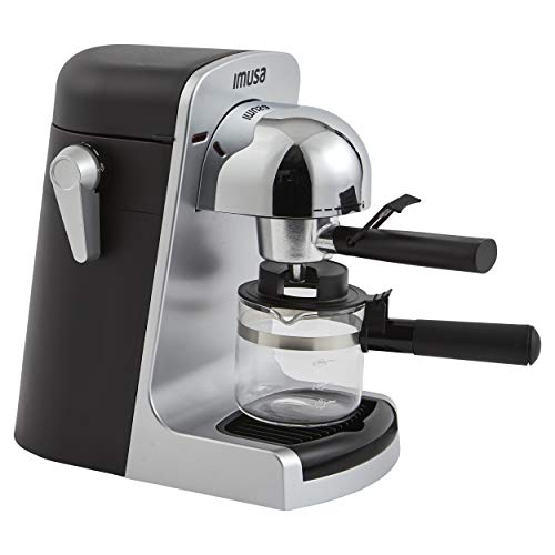 Cheapest Price! IMUSA USA GAU-18215 4 Cup Bistro Electric Espresso/Cappuccino Maker with Carafe, Sil...