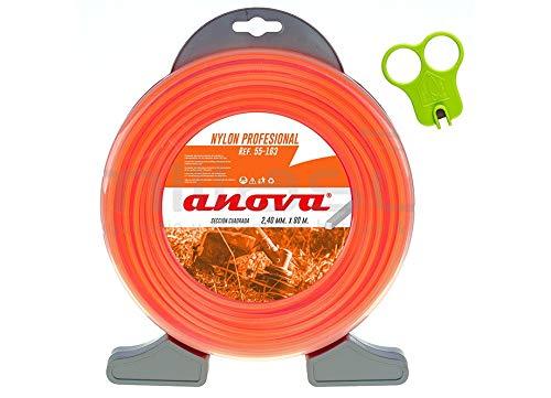 Anova Hilo desbrozadora Nylon bajo ruido Cyclone 2,40 x 75 Mt