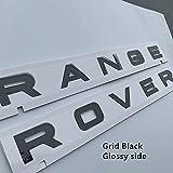 BAOBUM Adhesivo Insignia Pegatina de Insignia Delantero del Coche Compatible con Land Rover Range Rover Evoque Sport L320 L322 P38 Vogue Velar Tronco Emblema Emblema Accesorios Insignia Etiqueta