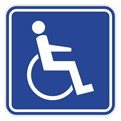 Rollstuhl Magnet-Schild I 10 x 10 cm I für Rollstuhl-Fahrer, Menschen mit Behinderung I magnetisches Auto-Schild für Behinderten-Transport I hin_357