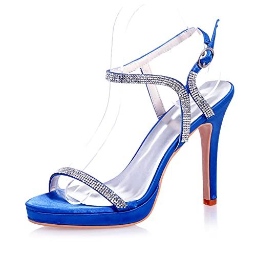 LGYKUMEG Zapatos de Novia para Mujer, Zapatos de Boda, Hebilla de Tiras...