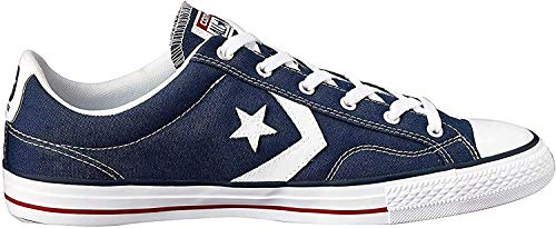 Converse Lifestyle Star Player Ev Ox, Zapatillas Unisex niño, Azul (Navy/White 410), 27 EU