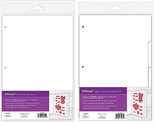 Ezmount Stamp Storage Panels Set- 1 Tabbed 4/Pkg and 1 Regular 5/Pkg- for Cling, Mounted, Acrylic and Clear Stamps - Both 8.5 inch x 11 inch