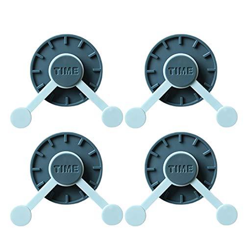 Shumu 4 ganchos adhesivos sin costuras giratorios para colgar en la pared con soporte de carga de 2 kg para baño o cocina