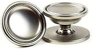 HardwareDirect 25 Pack: Small Round Matt Satin Nickel Kitchen Cabinet Knob Wi. . .