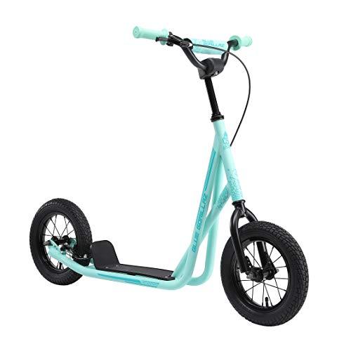 BLUE GORILLAZ Roller Kinderroller Tretroller Kickscooter für Jungen, Mädchen ab 6 - 7 Jahre | 12 Zoll Scooter mit Luftreifen | Mint