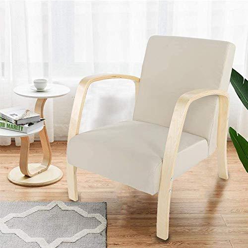 Ejoyous Sillón relax Pello para salón, sillón relax, sillón de chef, silla de ocio para dormitorio, comedor, salón, oficina, cocina, taburete de bar