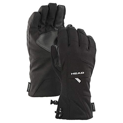 Head Unisex Skihandschuhe mit Tasche und Touchscreen-Technologie (Schwarz, X-Large)