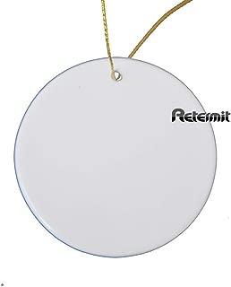 RETERMIT 10 pcs Sublimation Ceramic Ornament Christmas Tree Decor Disc Ornament for Sublimation Sublimation Blanks (3