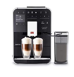 Melitta Caffeo Barista TS Smart F850-102 F850-102-Cafetera Automática, Super Silenciosa, Control con App Connect, Función One Touch, 1450 W, 1.8 litros, Acero Inoxidable, 5 Velocidades, Negro