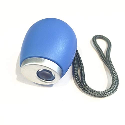HUANGJIAWEN Kreative Wanduhr Wecker-Mini-Projektor-LED-Uhr-Tragzeit-Taschenlampe mit hängendem Seil, digitaler Uhr (Color : Blue)