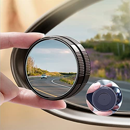 RONGSHU 2 PCS Car retrovisor Espejo Espejo Auxiliar Espejo Ciego pequeño Espejo Redondo reversión artefacto 360 ° Coche retroejo Espejo Accesorio