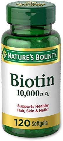 Nature's Bounty Nature's Bounty Biotin 10,000mcg, Supports Healthy Hair, Skin and Nails, Rapid Release Softgels, 120 Count (Pack of 3)