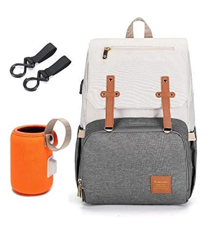 Best Oxford Diaper Bag Backpack, USB Warmer Holder, Medium Size, Stroller Bag, Baby Accessories, Baby Gear