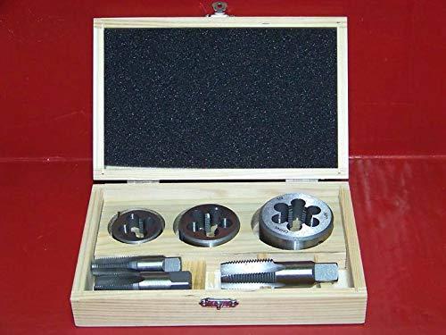 """(Best tools) 6pc Pipe Tap and Die 1/4"""" X 18, 3/8"""" X 18, 1/2"""" X 14, NPT Engine repair Tool set"""