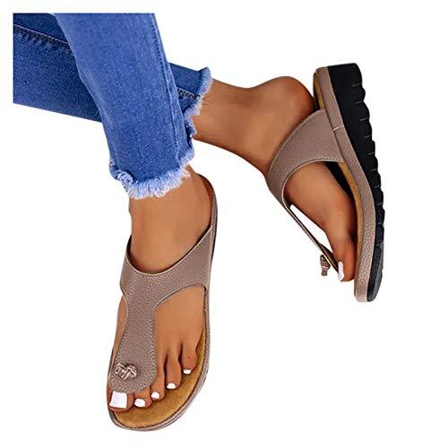 Aniywn Sandals for Women Wide Width,Women's Wedges Sandals Platform Casual Summer Middle Heels Open Toe Sandals Gray