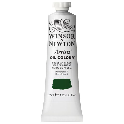 Winsor & Newton Artists' Oil Color Paint, 37-ml Tube, Prussian Green