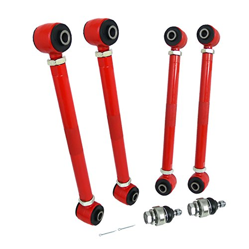 Spec-D Tuning CAM-2ACD03 Camber Kit (6 Pieces Front And Rear Red)