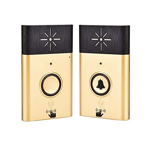 Drahtlose Türklingel Gegensprechanlage, klingelndes Anrufsignal Ultra-Langstrecken Voice Intercom Türklingel, Speak Clear/Lithium-Batteriebetrieb/Wiederaufladbar