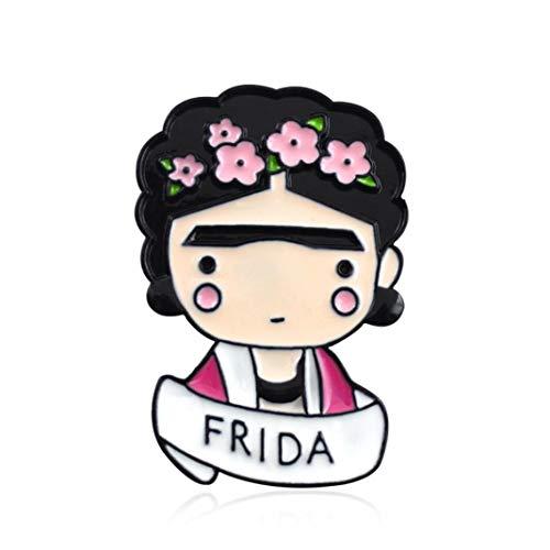 Broche de esmalte para chaquetas, mochilas, ropa, diseo de flores de dibujos animados, color rosa