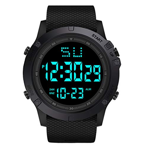 New Muranba Fashion Men LED Digital Date Military Sport Rubber Quartz Watch Alarm Waterproof