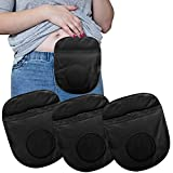 3Pcs Ostomy Pouch Cover Set Stretchy and Lightweight Bag for Colostomy, Ileostomy, Urostomy - Small Size with Round Opening (Black)