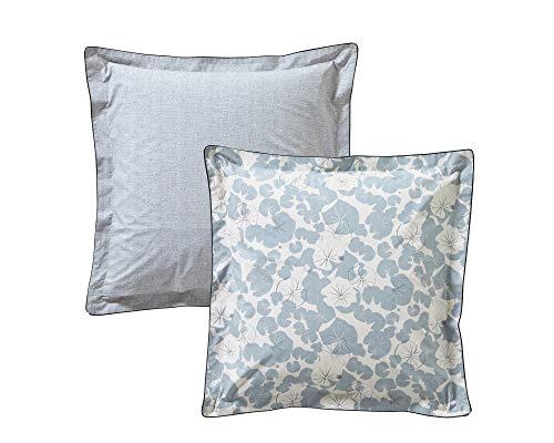 Blanc des Vosges Camouflage Platine taie 65 x 65 cm - Percale 100% Coton 80 Fils/cm²