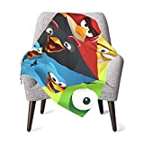 ASQWG Angry Birds Baby Blanket Ultra Soft Throw Blanket Flannel Fleece Blankets for Babies Crib Stroller 30 X 40 Inch