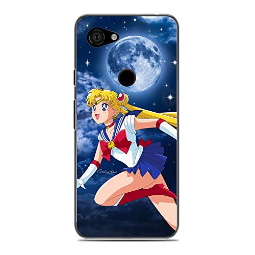 Gentra feature Soft Clear Coque Crystal Slim TPU Transparency Bumper Compact Protective Cover Case For Google Pixel 3A(3 Lite)-Sailor-Moon Anime Tsukino-Usagi 1