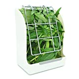 RUBYHOME Hay Feeder/Rack Less Wasted Hay - Ideal for Rabbits/Guinea Pigs/Chinchillas/Hamsters - Keeps Grasses Clean and Fresh (White)