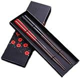 ZGQA-GQA Los palillos de madera sólida del color del arte del chino vajilla portable respetuoso del medio ambiente antideslizante