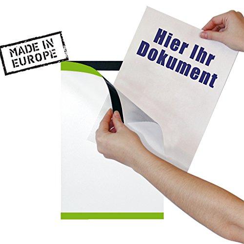 PosterFix® Plakattasche DIN A4 Grün Hochformat Postertasche für Schaufensterwerbung