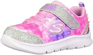 Skechers Kids Girl's Comfy Flex 2.0 Shoe, Pink/Lavender, 8 Medium US Toddler
