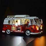 TongKuaiYouPin Bloques de construcción Juguetes Lighting, LED Light Kit para T1 Camper Van Set Compatible con LEGO10220 21001 (Solo Incluye LED, sin Kit)
