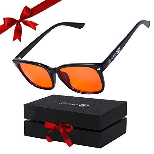 99.9% Orange Amber Blue Light Blocking Glasses for Women & Men - Anti Blue Light Blocking Computer, Gaming & Migraine Glasses - Sleep Better - Stop Eye Strain - Stop Migraine Headaches - Live Better