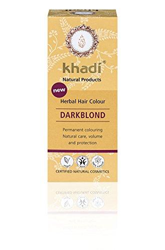 KHADI - Poudre Colorante Blonde Foncé - 100% Naturel - Pour tous types de cheveux - Fortifiant et nourrissant - Certifié BDIH - Végétalien - 100 gr