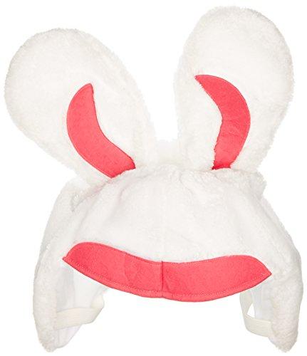 Skihelm Verkleidung Hase Bunny weiß, Überzug,