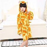 Baby Tier Bademantel für Jungen Mädchen Muster Kapuzen Handtuch Strand Kinder Nachtwäsche Kinder Kleidung Kinder Pyjamas Nachthemd-Giraffe-1-7