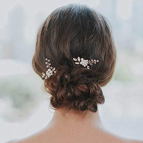 Yean Hochzeit Haarnadeln Brautschmuck Haarspangen Zubehör für Frauen und Mädchen (2 Stück)