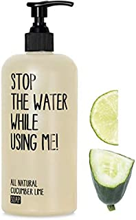 STOP THE WATER WHILE USINGME! All Natural Liquid Hand & Body Soap: Cucumber + Lime Moisturizing Hand Soap with Enzymes and Amino Acids, Paraben & Cruelty Free, 7oz