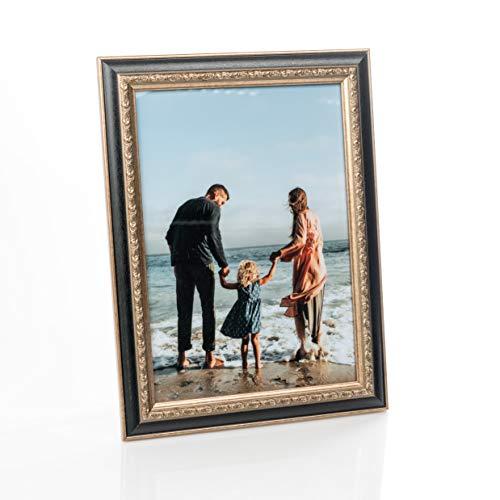 Victoria Collection Cornice per Foto - Cornice in Stile Barocco per Fotografie - da Tavolo o Muro - Orizzontale/Verticale - Decorazioni Casa e Ufficio - Vero Vetro - Regalo per Bambini e Adulti