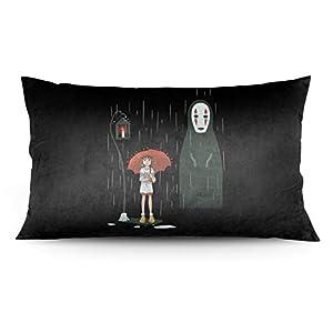 Studio Ghibli Anime Bed Pillow Case Sleep Pillow Case Hotel Pillow Protector Throw Pillow Case Satin Pillow Case Sofa…