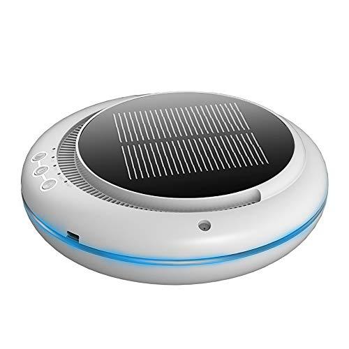 Aromatherapie-apparaat op zonne-energie voor de auto, luchtbevochtiger en luchtreiniger voor auto's, met formaldehyde en geur. B Wit