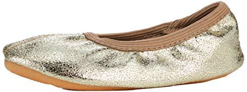 Beck Basic, Zapatillas de Gimnasia para Niñas, Dorado (Gold 14), 33 EU