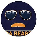 NiYoung Da Bears Chicago Windy City Mustache Glasses Non Slip Door Mat Outdoor Decorative Garden Office Bathroom Bedroom Living Room Door Mat with Non Slip Inside & Outside Area Rug Floor Mat 24Inch