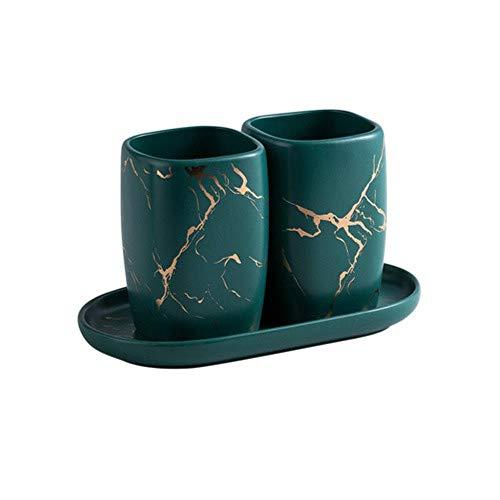 Tassen Einfache Keramik Marmorierung Mund Tasse Paar Set Zahnbürste Tasse Waschbecher Zahnzylinder Paar Tazas De Ceramica Creativas, Kamel