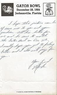 Mark Moore Signed Handwritten Letter on 1984 Gator Bowl Letterhead Oklahoma St