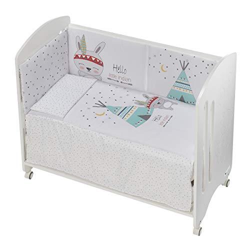 Cuna Lovely Premium con Textil Tipi Oso Blanco